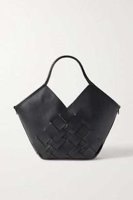 Hereu Coloma Small Woven Leather Tote - Black