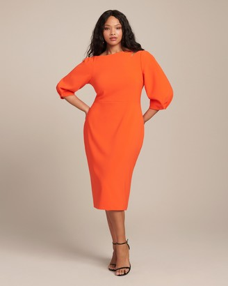 Christian Siriano Solid Long Sleeve Dress