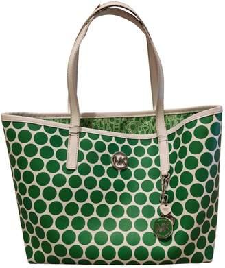 Michael Kors Jet Set Green Cloth Handbags