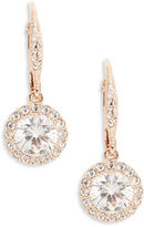 Nadri Rose Goldtone Crystal Vintage Drop Earrings