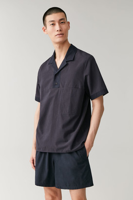 Cos Camp Collar Organic Cotton-Linen Shirt