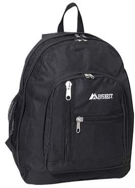 Everest Side Mesh Pocket Backpack 5045 Black OSFA
