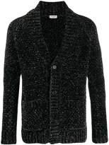Saint Laurent glitter effect V-neck cardigan