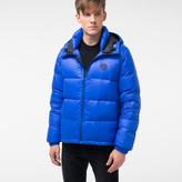 Paul Smith Men's Blue Nylon Hooded Down Jacket