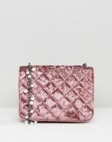 Asos Velvet and Pearl Chain Cross Body Bag