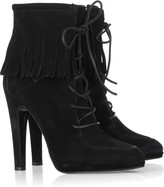Fringed leather boots