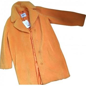 Stand Studio Orange Faux fur Coat for Women