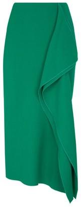 Roland Mouret Metallic Pencil Ruffle Skirt