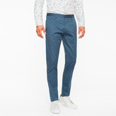 Paul Smith Men's Slim-Fit Petrol Stretch-Cotton Twill Trousers