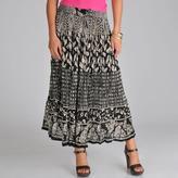 La Cera Women's Voile Black and White Broomstick Skirt
