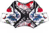 Alexander McQueen De Manta floral table cloth clutch - women - Polyester/Leather - One Size
