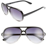 A. J. Morgan Women's A.j. Morgan Regiment 57Mm Gradient Lens Aviator Sunglasses - Black/ Crystal