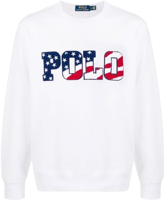 Polo Ralph Lauren Magic fleece-appliqued sweatshirt