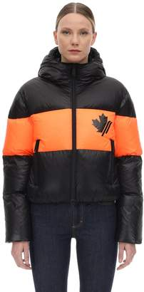 DSQUARED2 Hooded Nylon Down Jacket
