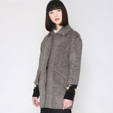 PepaLoves Patterned, Fluffy, Mid-Length Coat with 3/4 Length Sleeves