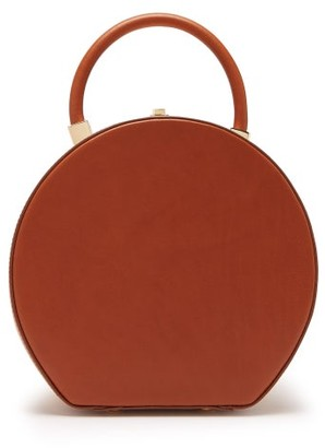 Sparrows Weave - The Round Wicker And Leather Top Handle Bag - Tan