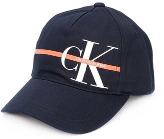 Calvin Klein Kids logo print baseball cap