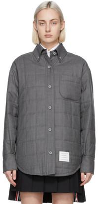 Thom Browne Grey Down Super 120s Shirt Jacket