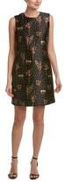 RED Valentino Blooming Garden Jacquard Shift Dress.