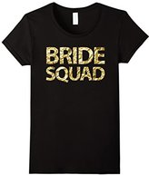 Women's Bride Squad - Gold Foil Bachelorette Party Shirts