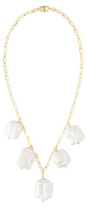 Timeless Pearly - Baroque Pearl-charm Gold-plated Necklace - Womens - Pearl