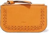 Chloé Hudson Whipstitched Leather Cardholder - Saffron