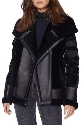 Dawn Levy Mel Shearling-Trim Puffer Jacket