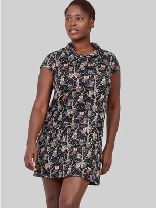 M&Co Izabel Curve owl print knit dress