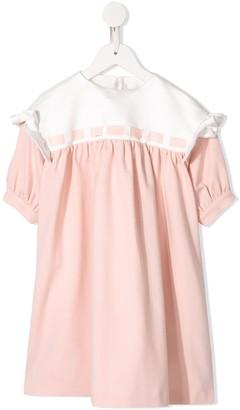 Fendi Kids Ribbon Trim Dress
