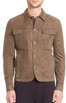 Helmut Lang Distressed Nubuck Patch Pocket Jacket