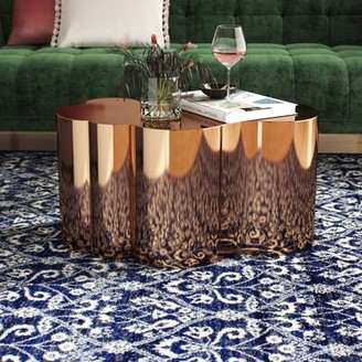 """Statements By J Tanksley Solid Coffee Table Color: Rose Gold, Size: 16"""" H x 31"""" L x 19"""" W"""