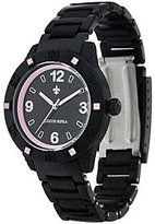 Judith Ripka As Is Black Athena Watch w/ Color DMQ. Accents