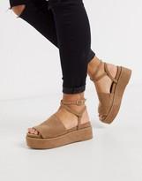 Tabitha Asos Design ASOS DESIGN chunky flatform sandals in beige