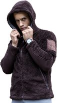 FREE SOLDIER Men Fall Winter Casual Plush Tactical Hoodie Sweatshirt Hunting Warm Coat Outfit Outwear (, S)