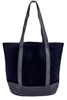 San Diego Hat Company Women's Canvas Tote with Paperbraid Handles BSB1705