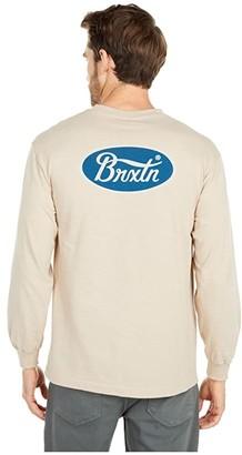Brixton Parsons II Long Sleeve STT (Sand) Men's Clothing