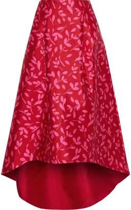 Sachin + Babi Avalon Asymmetric Printed Satin-twill Skirt