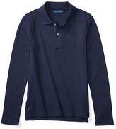 Ralph Lauren 7-16 Long Sleeve Uniform Polo Shirt