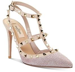 Valentino Women's Rockstud Ankle Strap High-Heel Sandals