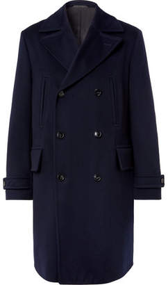 Officine Generale Scott Double-Breasted Storm System Wool Coat