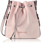 Armani Jeans New Light Pink Eco Leather Bucket Bag