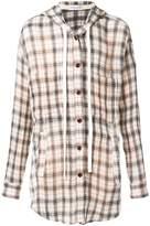Faith Connexion hooded flannel shirt