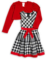Iris & Ivy Girls 7-16 Plaid Dress and Cardigan Set