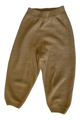 Base Range Beige Wool Trousers