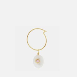 Anni Lu Women's Pearl Hoop - Pink Sand