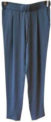 Fabiana Filippi Blue Silk Trousers for Women