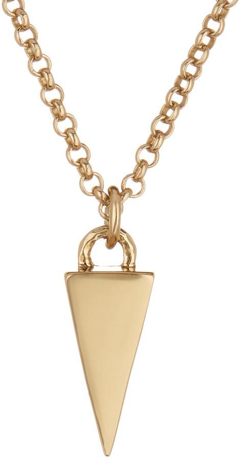 Melinda Maria Single Pyramid Pendant Necklace