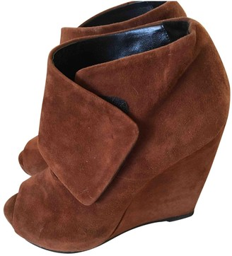 Pierre Hardy \N Camel Suede Ankle boots
