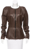 Lanvin Leather Zipped Jacket