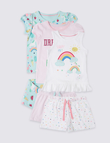 Marks and Spencer 3 Pack Unicorn Pyjamas (9 Mths-8 Yrs)
